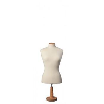 Μπούστο Ραπτικής με Ξύλινη Στρογγυλή Κοντή Βάση