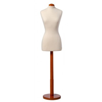 Bust Form with Round Base
